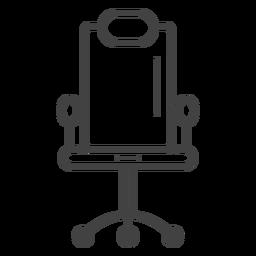 Icono de trazo de silla de juego