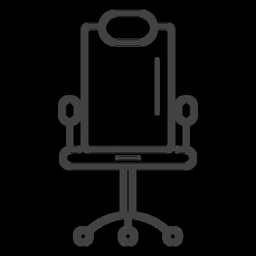 Ícone de traço de cadeira de jogos Transparent PNG