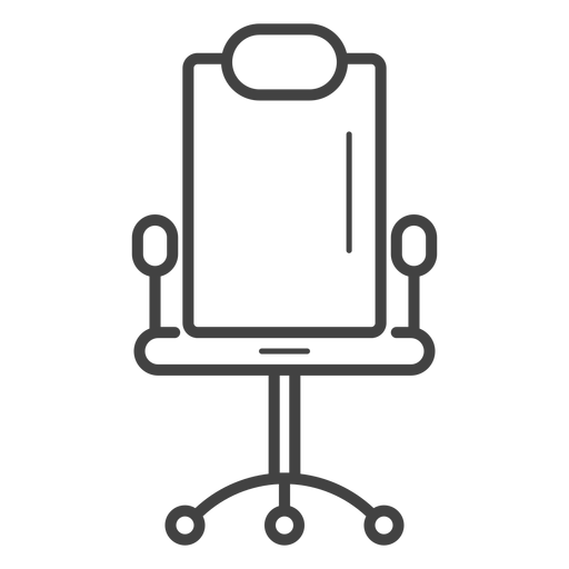 Gaming chair stroke icon Transparent PNG