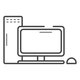 Ícone de traço de computador de jogos