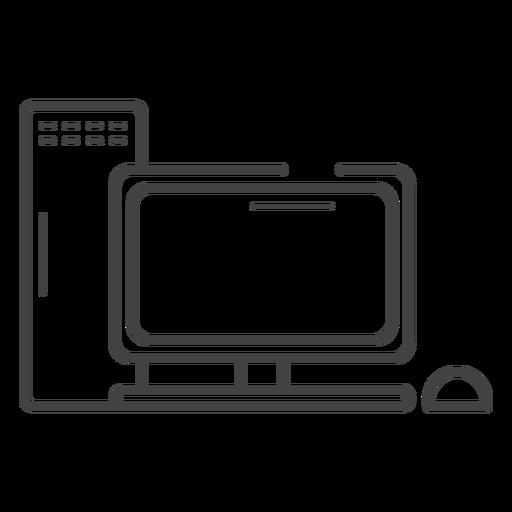 Icono de trazo de computadora de juego Transparent PNG