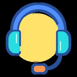 Ícone de fone de ouvido de jogos