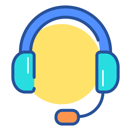 Gaming headset icon Transparent PNG