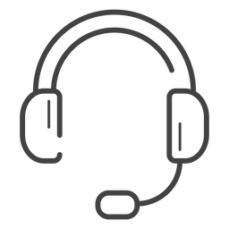 Icono de trazo de auriculares para juegos