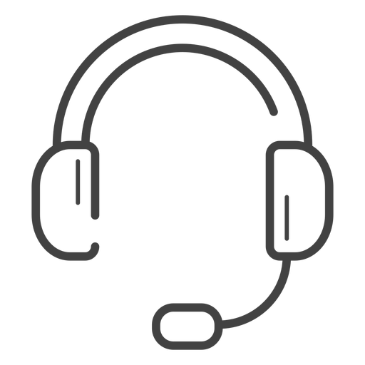 Gaming headset stroke icon Transparent PNG