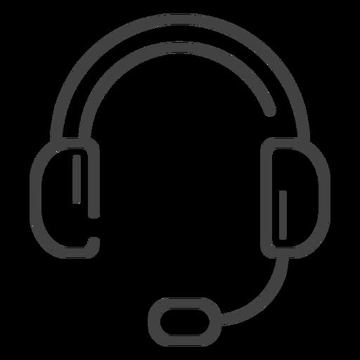 Icono de trazo de auriculares para juegos Transparent PNG