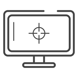 Gaming monitor stroke icon