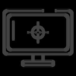 Icono de trazo de monitor de juegos
