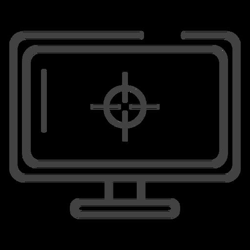 Ícone de traçado do monitor de jogos Transparent PNG