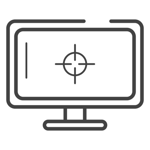 Gaming monitor stroke icon Transparent PNG