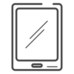 Gaming tablet stroke icon