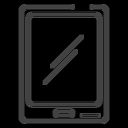 Ícone de traçado de tablet de jogos