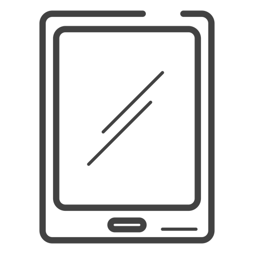 Gaming tablet stroke icon Transparent PNG