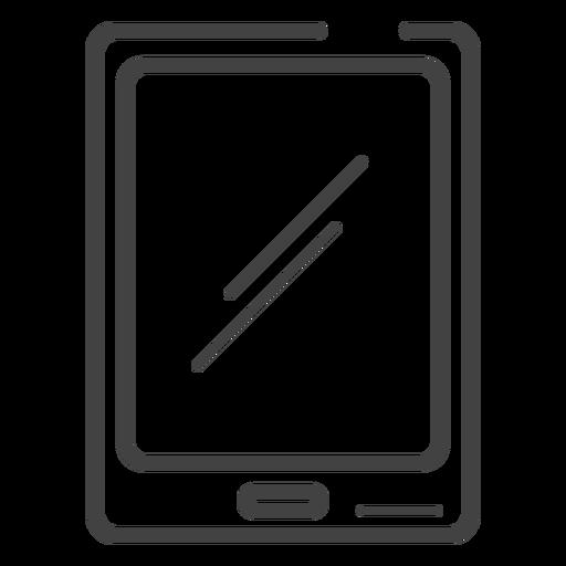 Icono de trazo de tableta de juego