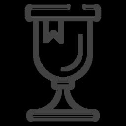 Icono de trazo de trofeo de juego