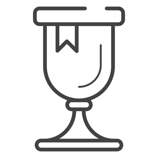 Gaming trophy stroke icon Transparent PNG