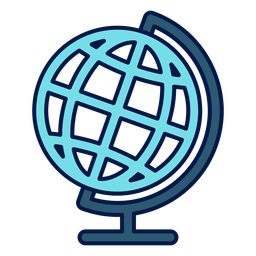 Geography globe school icon