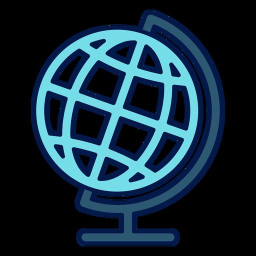 Icono de la escuela globo de geografía Transparent PNG