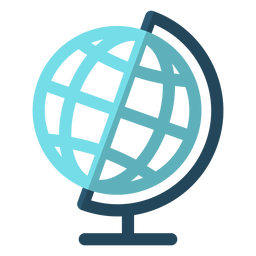 Geography globe school illustration