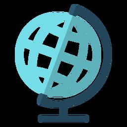 Ilustración de geografía globo escuela