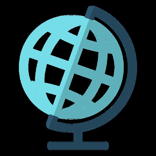 Ilustración de escuela de globo de geografía