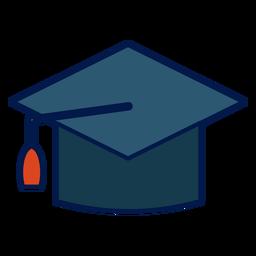 Ícone de escola de chapéu de formatura