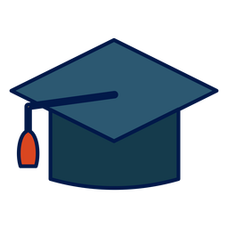 Icono de la escuela de sombrero de graduación