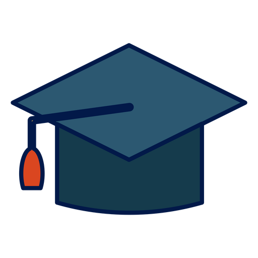 Graduation hat school icon Transparent PNG