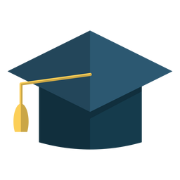 Graduation hat school illustration