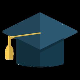 Ilustración de escuela de sombrero de graduación
