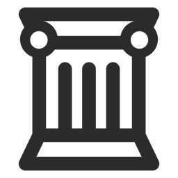 Greek column stroke icon