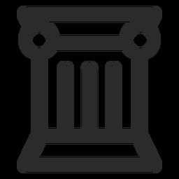 Icono de trazo de columna griega