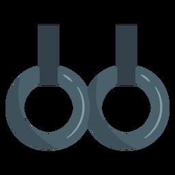 Icono de anillos de gimnasia constante.