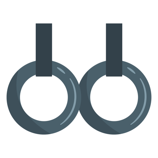 Ícone de anéis de ginástica constante Transparent PNG