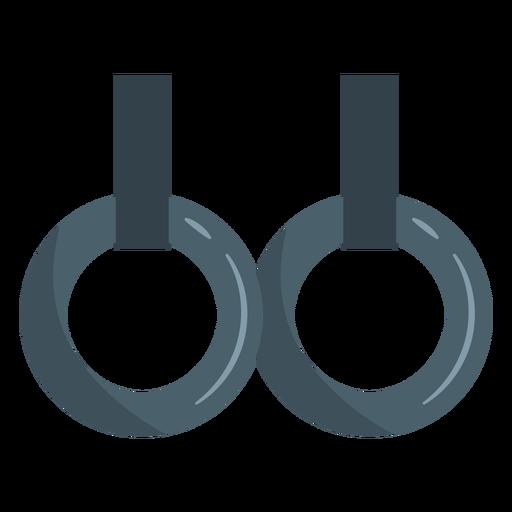 Ícone de anéis fixos de ginástica