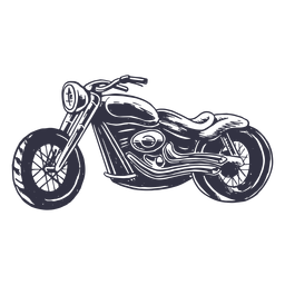 Hand drawn classic motorcycle