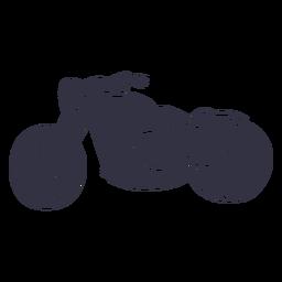 Motocicleta clásica dibujada a mano.