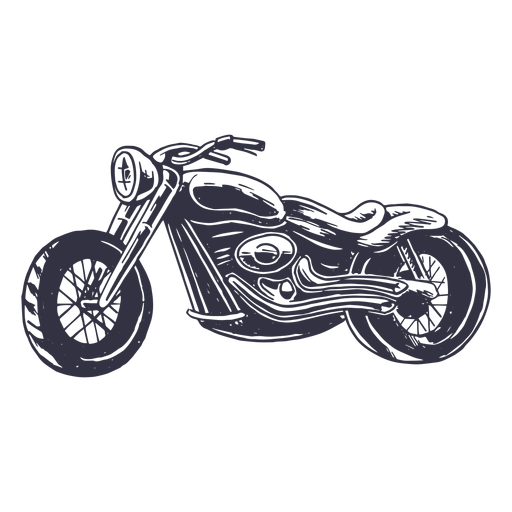 Hand drawn classic motorcycle Transparent PNG