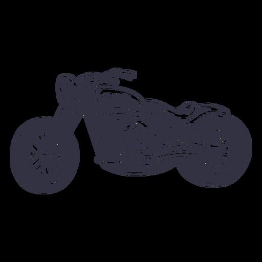 Motocicleta clásica dibujada a mano. Transparent PNG