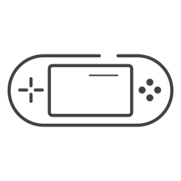 Handheld game console stroke icon