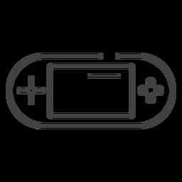 Ícone de traço do console de videogame portátil