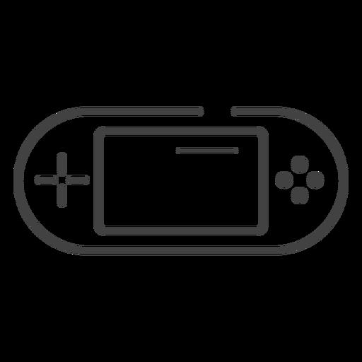 Ícone de traço do console de videogame portátil Transparent PNG