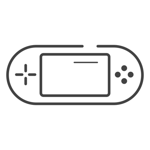 Handheld game console stroke icon Transparent PNG