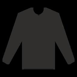 Camiseta henley de manga larga plana.