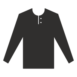 Henley Langarm T-Shirt flach