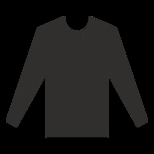 Henley long sleeve t shirt flat Transparent PNG