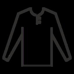 Henley T-Shirt mit langen Ärmeln
