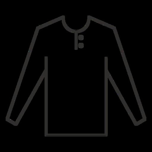 Henley long sleeve t shirt stroke Transparent PNG