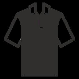 Icono plano camiseta polo henley