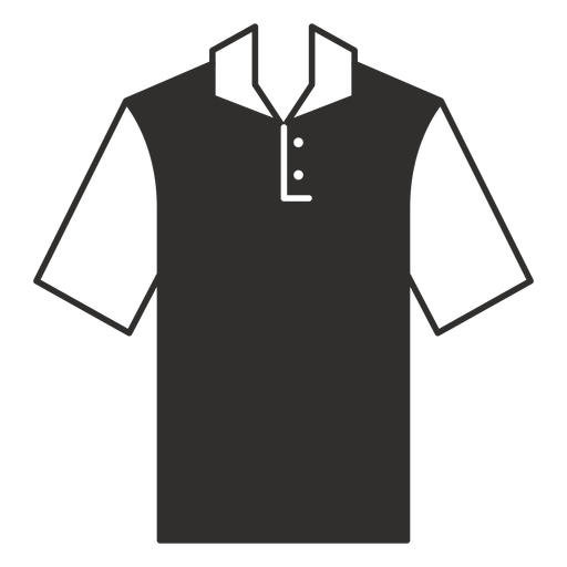 Henley polo t shirt flat icon Transparent PNG